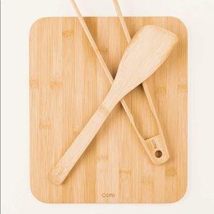 NEW Core Bamboo Cutting Board, Spatula, & Tongs 🆕